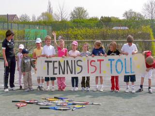 Tennis ist toll und macht Spaß